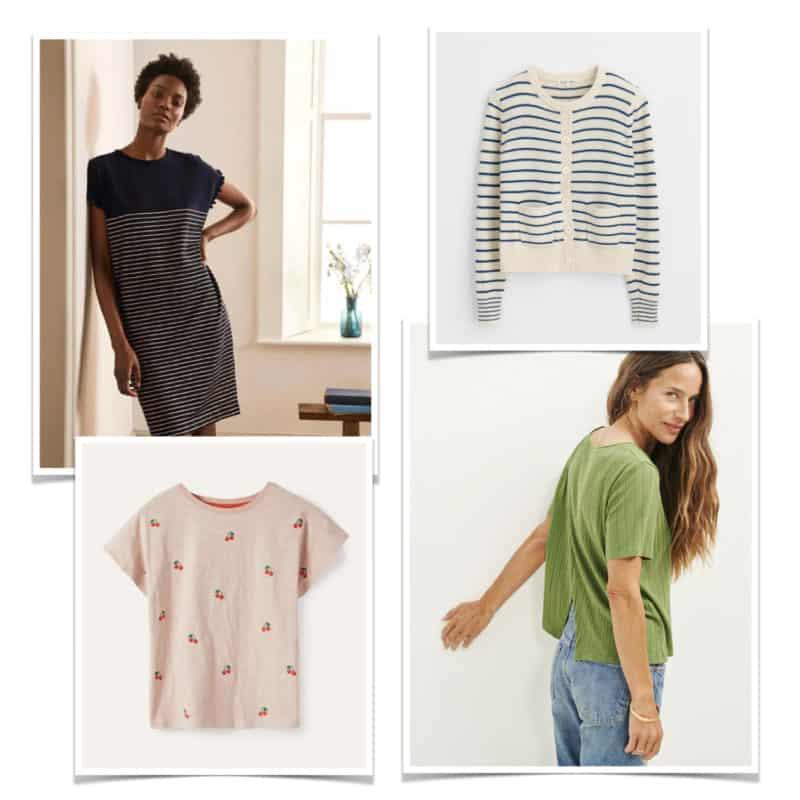 Summer wardrobe basics with interesting details.