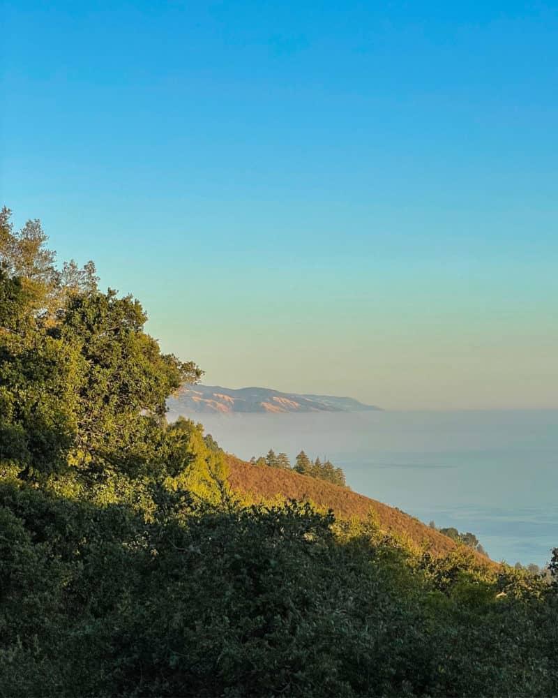 Big Sur coastline looking south from Ventana.