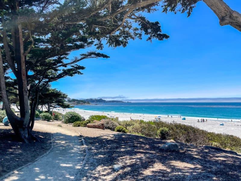 Beach walk in Carmel-by-the-Sea, California.