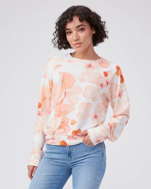 Paige Daytona floral print sweatshirt.