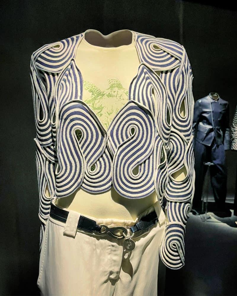 Scrolled fabric jacket at Armani/Silos, Milan