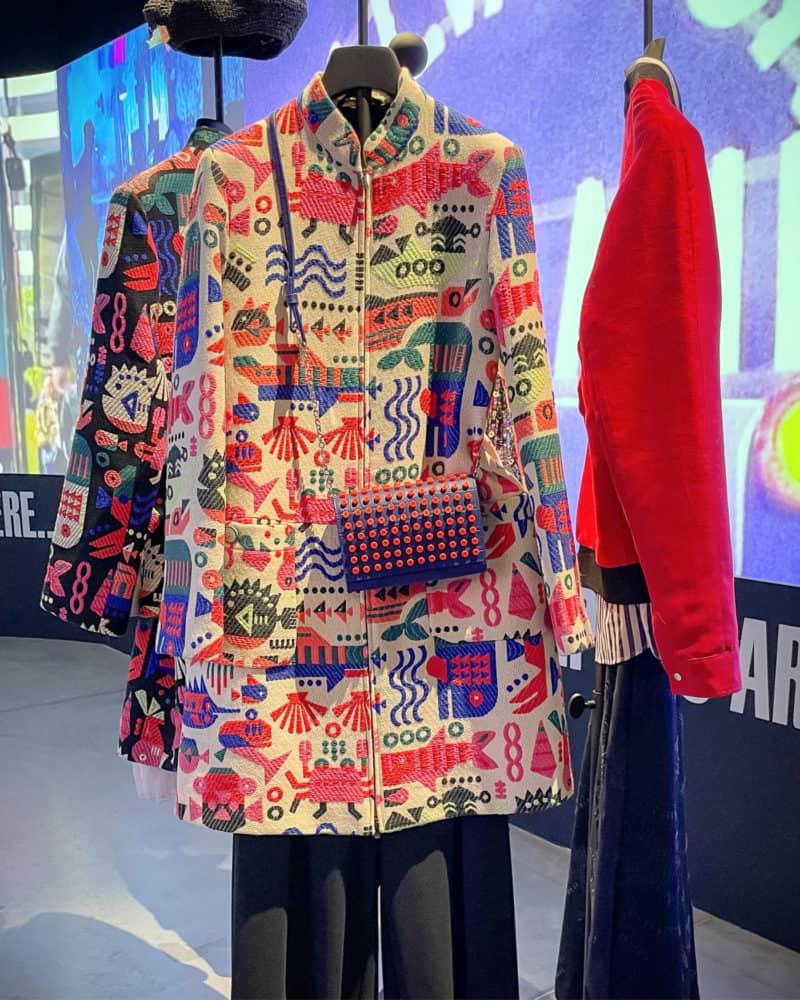 Colorful Emporio Armani jackets at Armani/Silos, Milan.