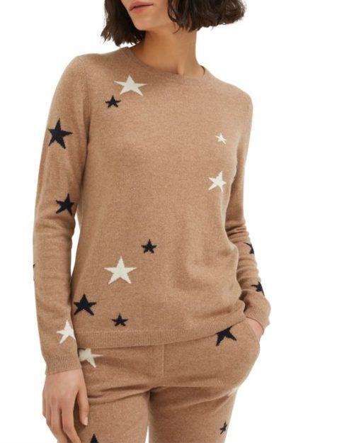 Chinti & Parker star print sweater camel.