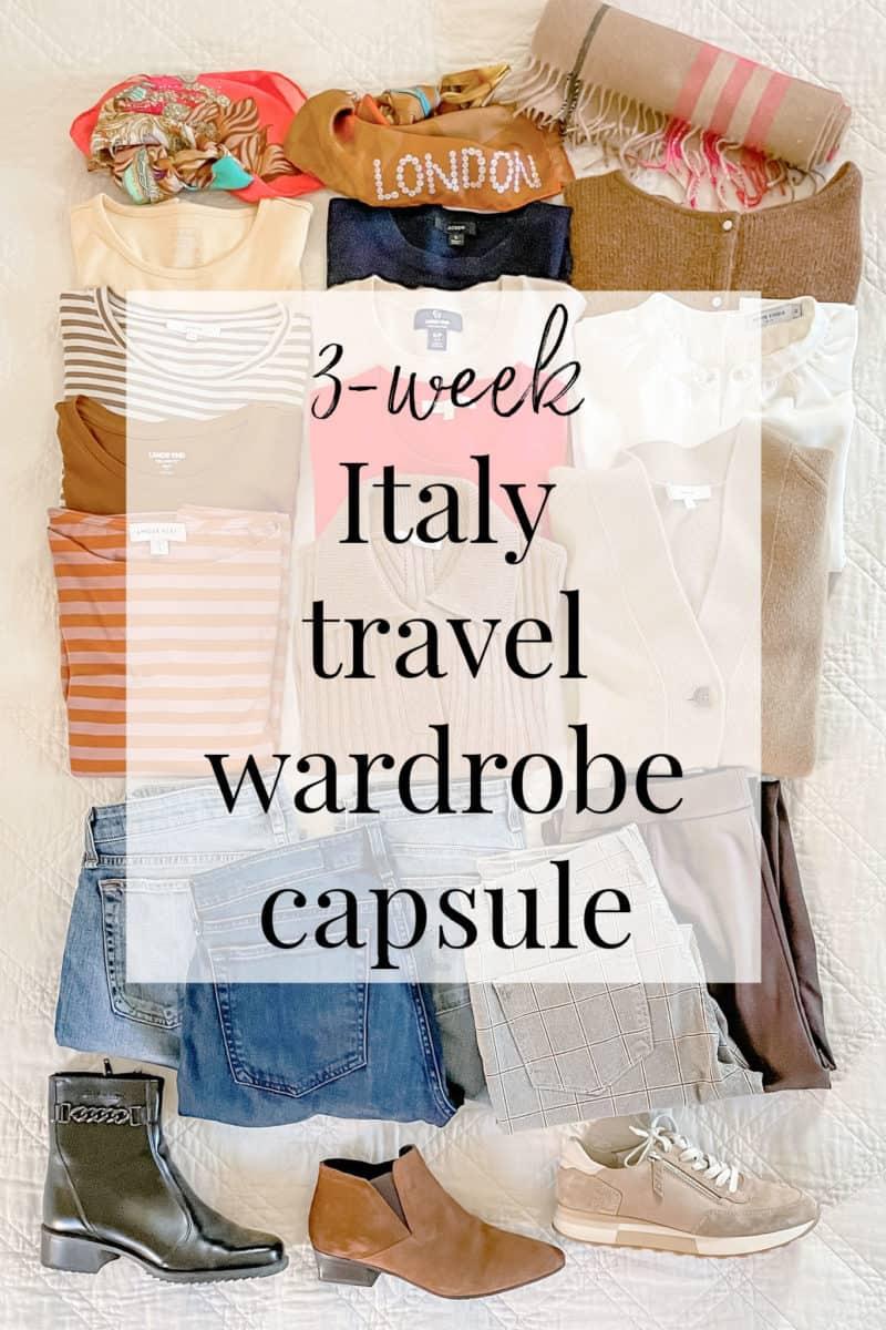 Susan B's 3-week Italy travel wardrobe capsule.